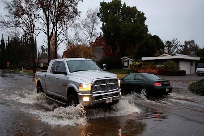 California floods recede after storms in wildfire burn areas